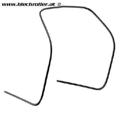 Monoschlitzrohr Beinschild PIAGGIO für Vespa GTS/GTS Super HPE 125-300 (`19-) - schwarz glänzend