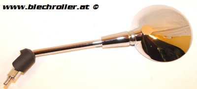 Spiegel PIAGGIO Links/Rund - Chrom für Vespa Primavera 50-125ccm 2T/4T