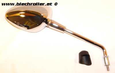 Spiegel PIAGGIO Rechts/Nierenform - Chrom für Vespa Sprint 50-150ccm 2T/4T