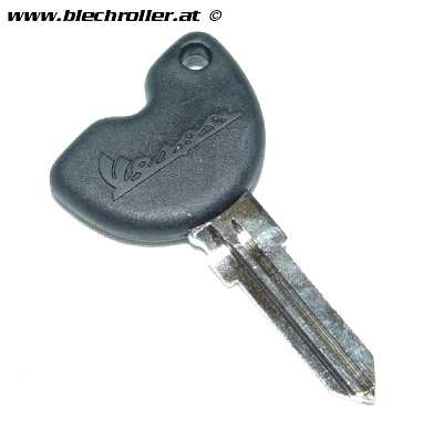 Schlüsselrohling PIAGGIO für Vespa ET2/ET4/LX/LXV/S 50ccm 2T/4T mit Vespa Logo