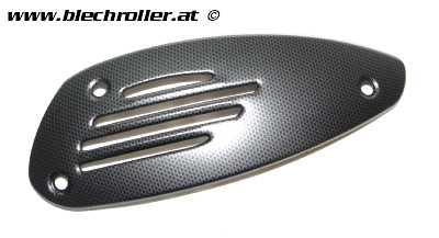 Hitzeschild PIAGGIO Auspuff für Vespa GTS/GTS Super/GTV/GT 60 25-300ccm - Carbon-look (matt)