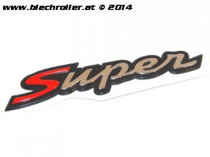 """Schriftzug """"Super"""", Heck für Vespa GTS Super 125/300ccm - Schwarz/Chrom/Rot"""