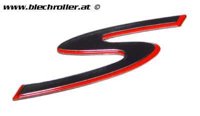"Schriftzug ""S"" Beinschild für Vespa GTS Super Sport 125/300ccm"