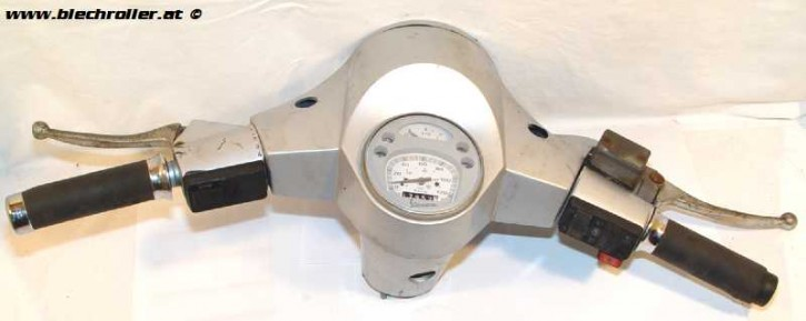 Lenkerkopf Vespa PX komplett für Scheibenbremse - Gebraucht -