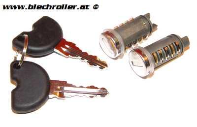 Schließzylinder Zündung/Sitzbank für Vespa ET2/ET4/LX/LXV/S 50ccm 2T/4T