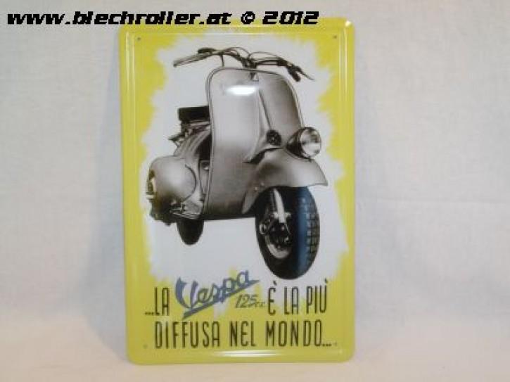 Vespa Diffusa Nel Monde - Blechschild