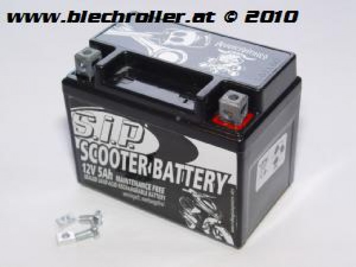 Batterie 12V/5Ah SLA4L-BS passt für nahezu alle Scooter 50ccm 2/4T AC/LC - vorgeladen/einsatzbereit