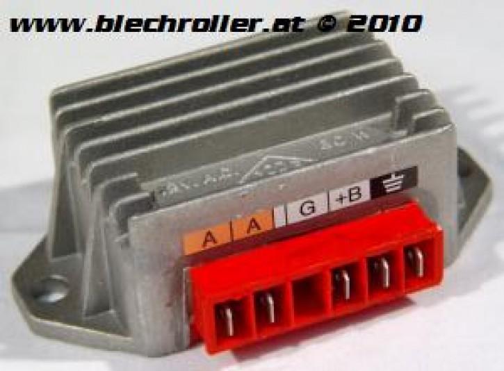 Spannungsregler RMS für Vespa PK50XL/FL/Plurimatic/N/PK80-125S/ETS/Elestart/P125-150X/P200E/PX80-150/ Lusso, 5 Anschlüsse - mit Batterie