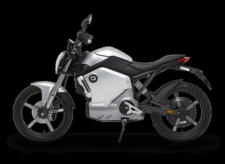 Super SOCO TS1200R, Elektro-Moped - Silber