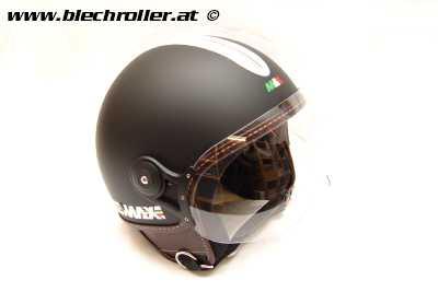 Jethelm MAX POWER ITALIA, Schwarz matt - Größe: L