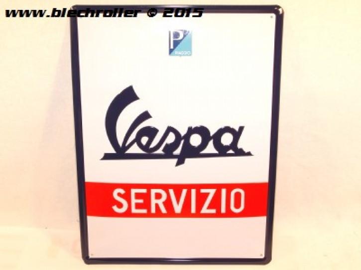 Vespa Servizio - Blechschild
