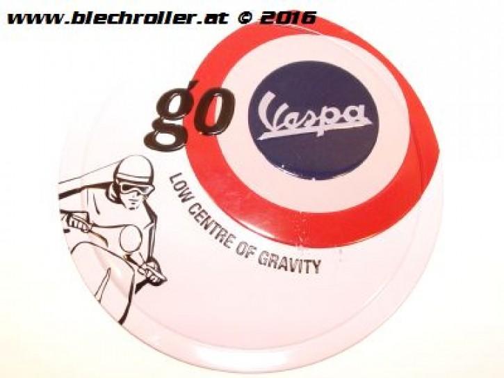Vespa go Vespa - Blechschild rund