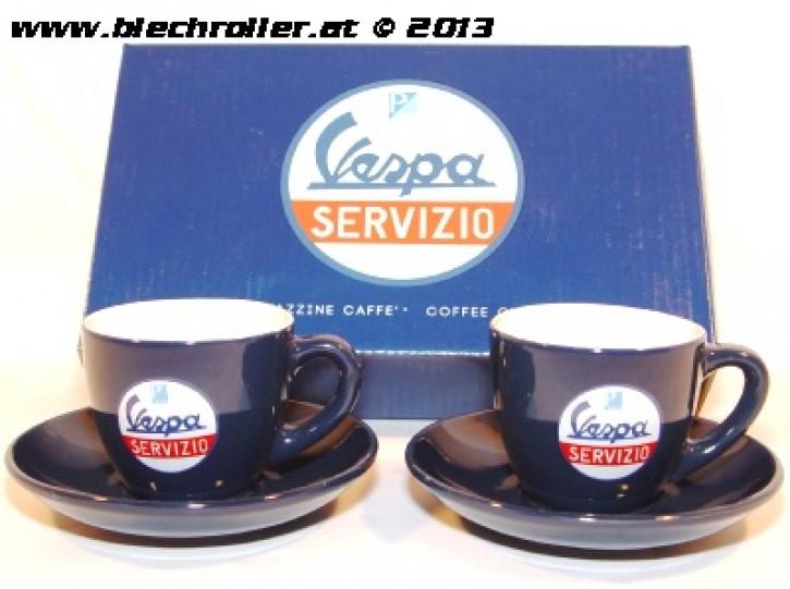 """Espresso Tassenset """"VESPA SERVIZIO"""", 2-teilig, inkl. Geschenkbox"""