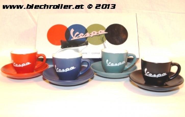 Espresso Tassenset VESPA, 4-teilig, inkl. Geschenkbox