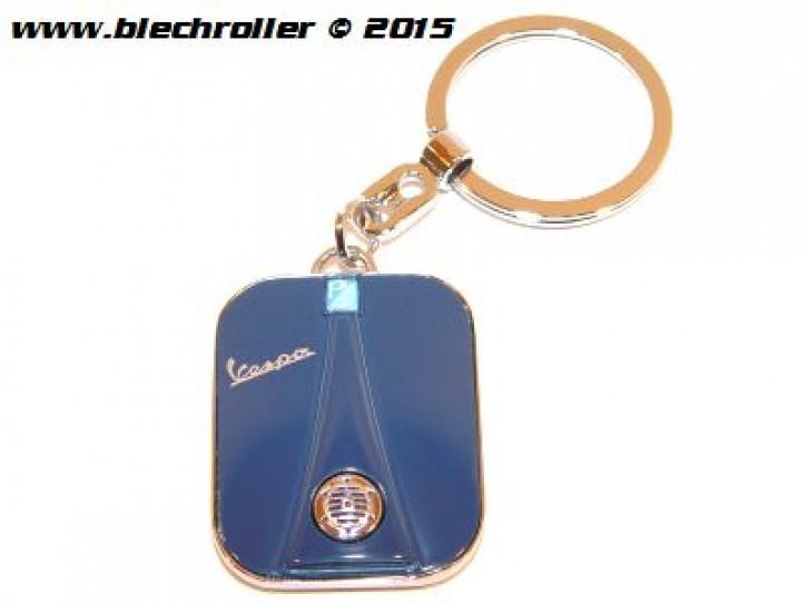 """Schlüsselanhänger """"Vespa"""" Beinschild, Blau"""