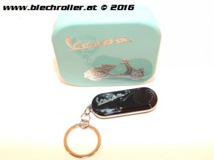 """Schlüsselanhänger """"Vespa"""" Seitenhaube, Schwarz"""