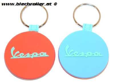 """Schlüsselanhänger """"Vespa"""" Silkon, Blau/Orange"""