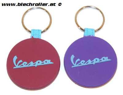 """Schlüsselanhänger """"Vespa"""" Silkon, Violet/Rot"""