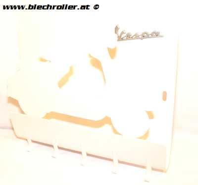 """Schlüsselboard """"Vespa"""" aus Metall - Weiß"""
