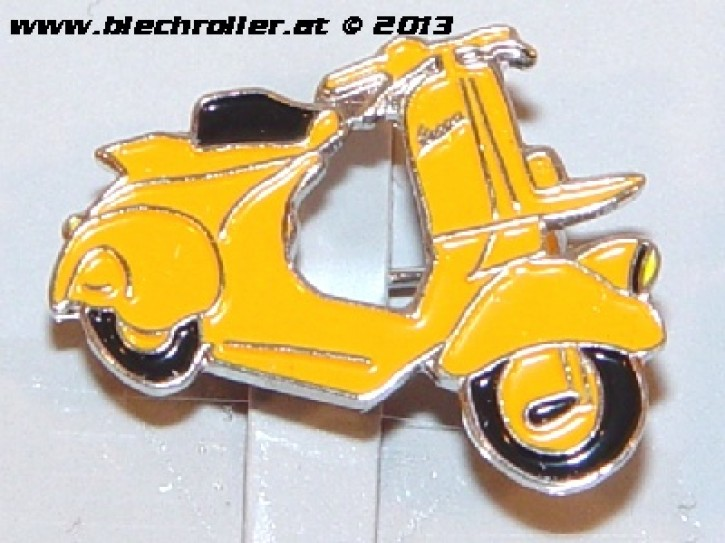 "Anstecker/Pin ""Vespa Faro Basso"", orange"