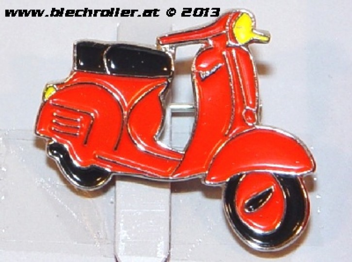 "Anstecker/Pin ""Vespa Rally"", rot"