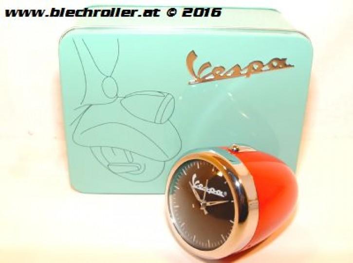Wecker/Uhr im Vespa Scheinwerfer, Rot