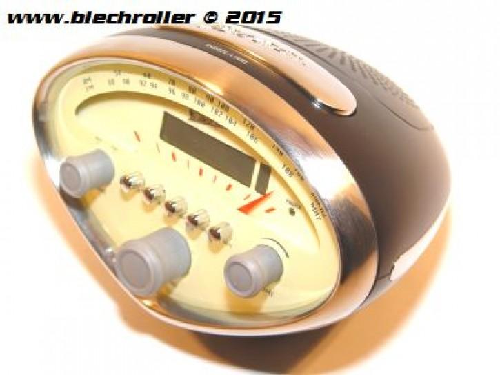 Radiowecker VESPA im Muscheltacholook - Schwarz