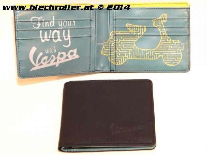 "Geldtasche/Geldbörse ""Find your way with Vespa"