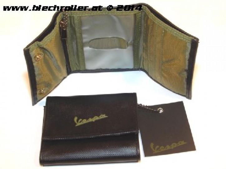 Geldtasche/Geldbörse Vinyl Schwarz