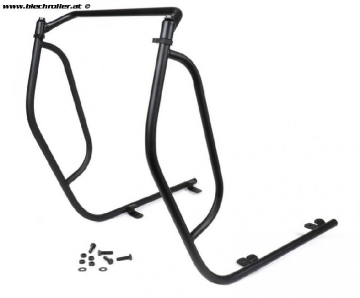 Sturzbügel Beinschild Vespa PX80/PX125/PX150/PX200/LML 2/4T und auch Automatik Deluxe (CVT)- Schwarz - A-0001013/N - Restposten