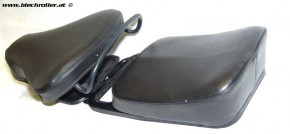 Schwingsattel vorne mit Gebpäcksbrücke und Sitzkissen für Vespa V50/V90/100/PV/Primavera/ET3/Special, schwarz - Gebraucht
